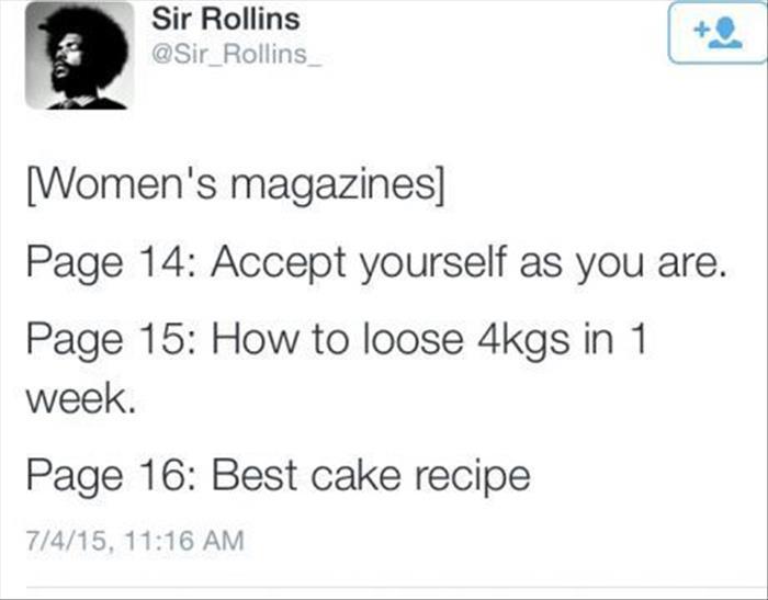 a woman's magazine logic