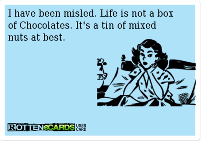 funny box of chocolates