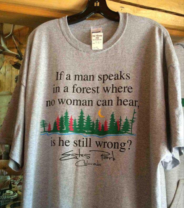 if a man speaks