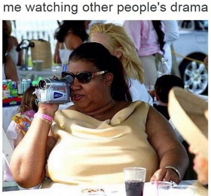 me watching drama