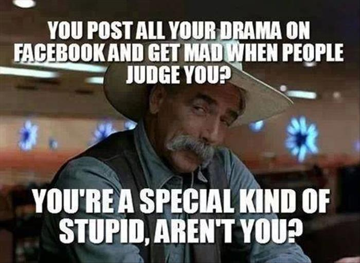 posting drama on facebook