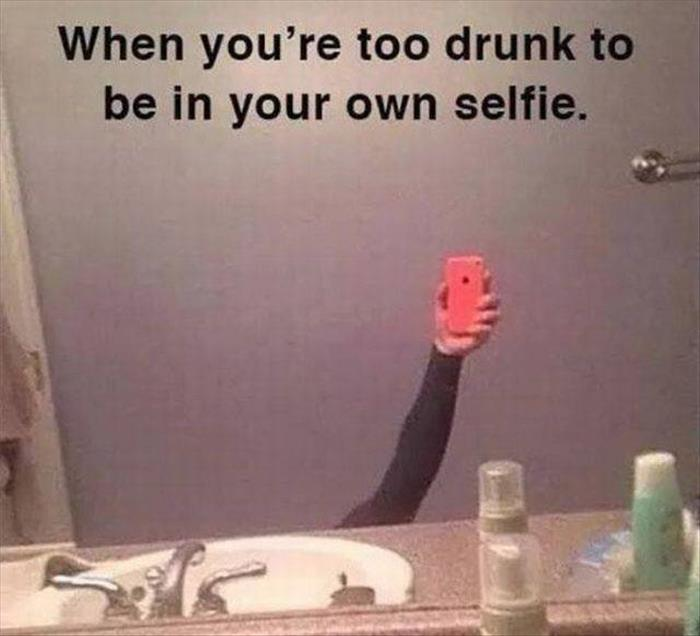 the funny selfie