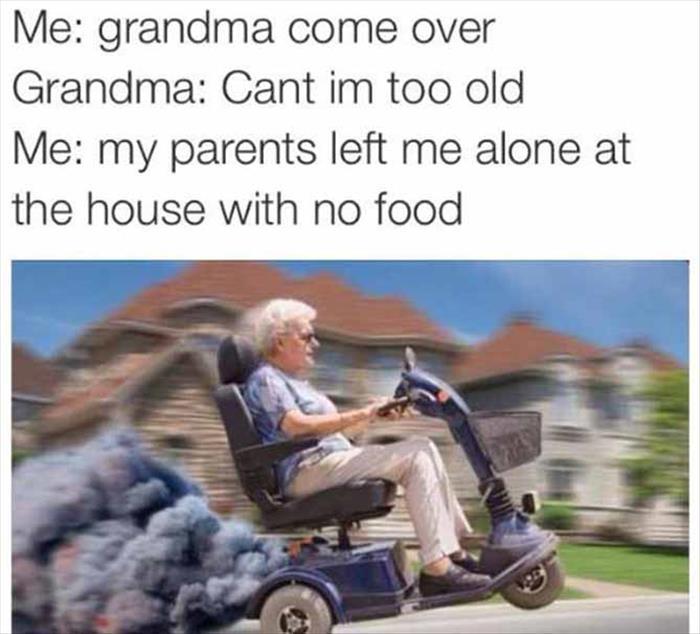 when grandma helps