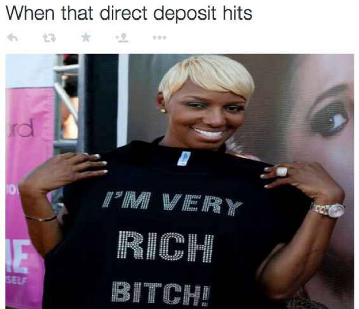 when you get a direct deposit