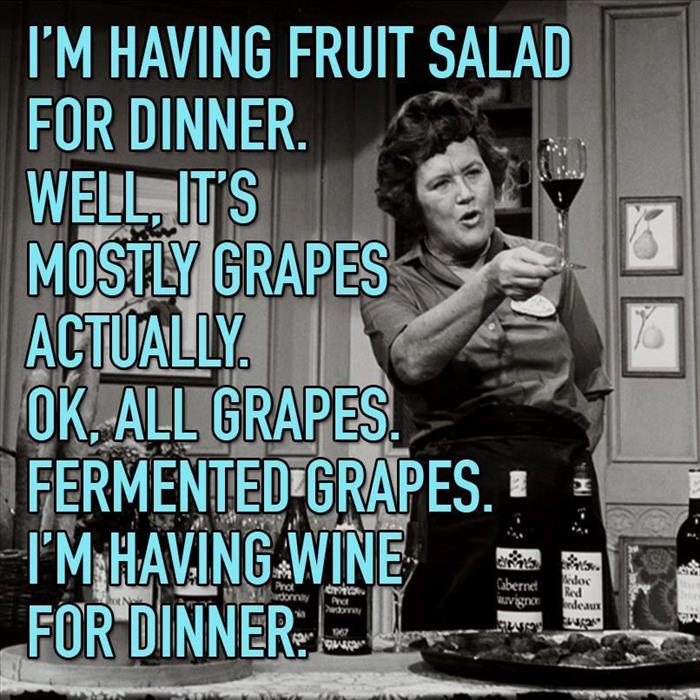 wine is for dinner