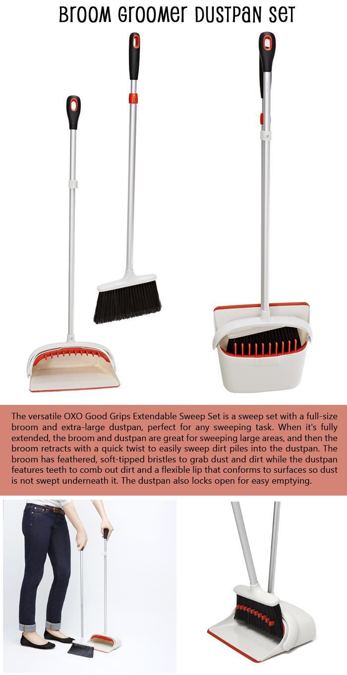 Broom Groomer Dustpan Set