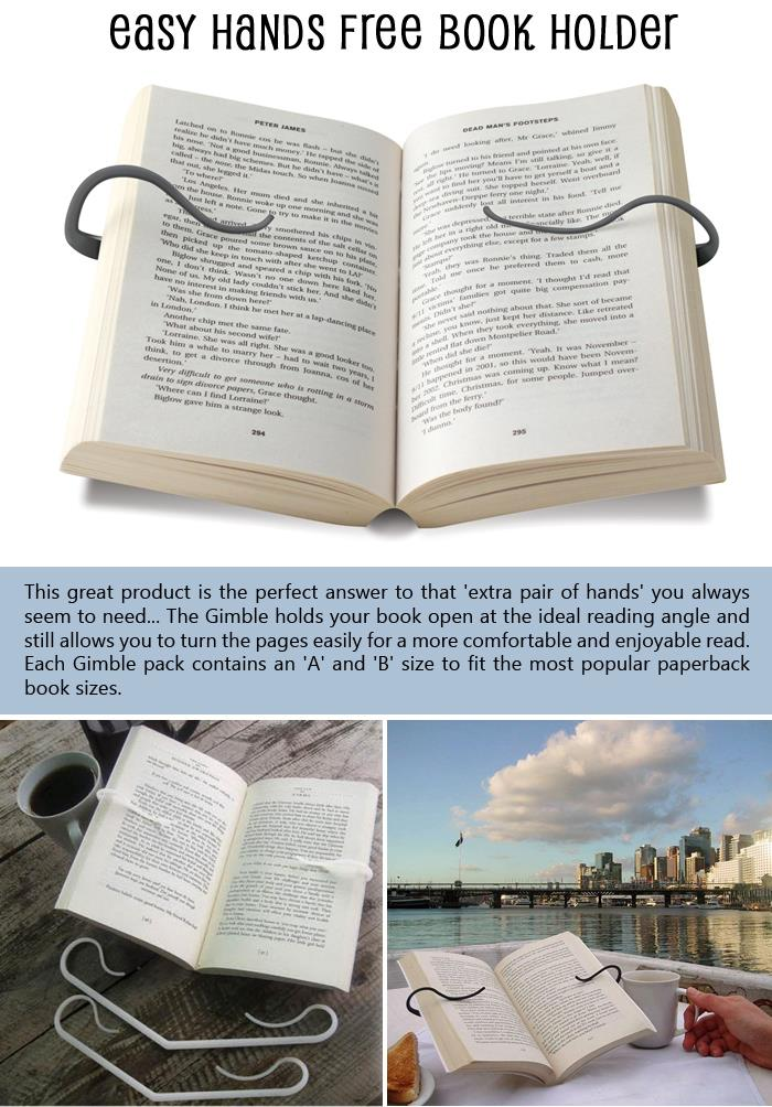 Easy Hands Free Book Holder