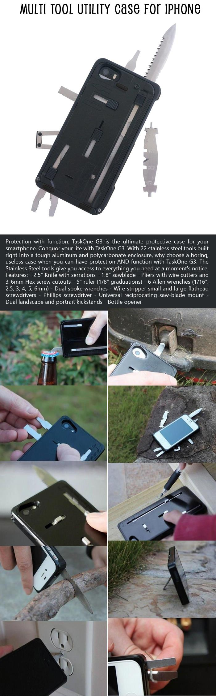Multi Tool Utility Case for iPhone